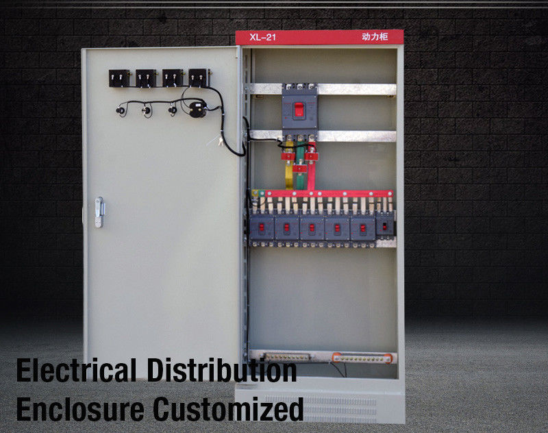 XL21 Motor Control Cabinet Power Electrical Enclosure Sheet Steel For Switch Panel IEC 60439